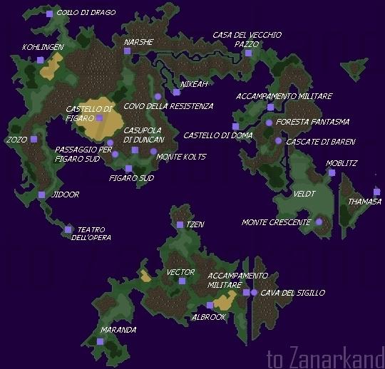 Final Fantasy VI - World Map